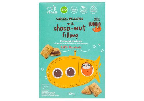 Super Fudgio Cereal pillows met chocolade hazelnoot vulling Biologisch