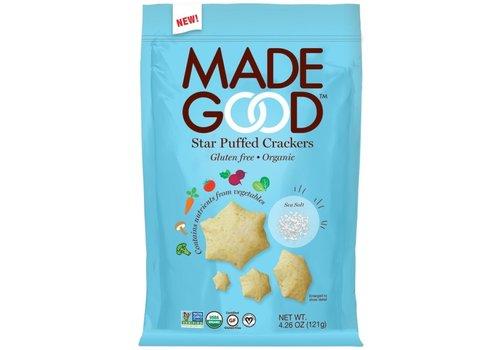 Made Good Star Puffed Crackers Sea Salt Biologisch