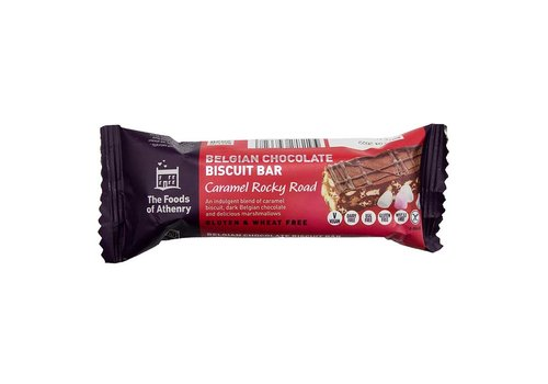 Health Delicious Belgian Chocolate Biscuit Bar Caramel Rocky Road