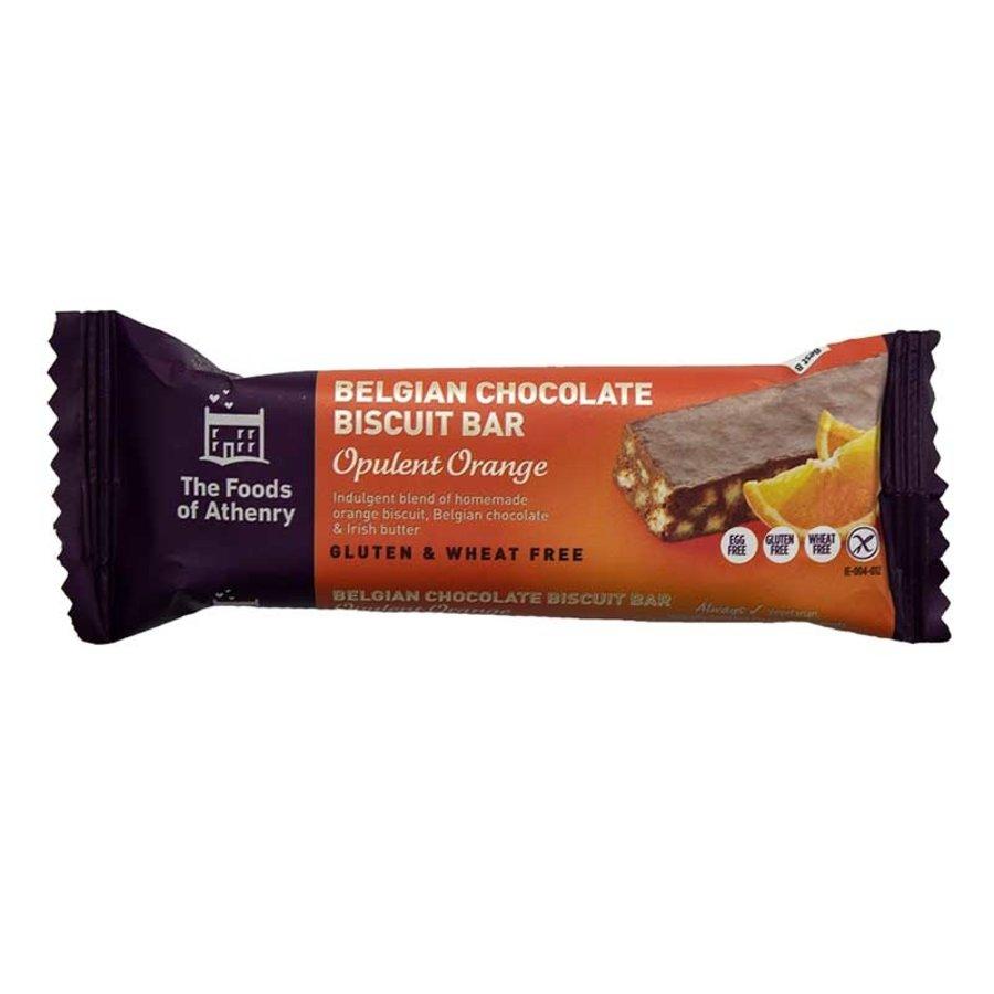 Belgian Chocolate Biscuit Bar Opulent Orange