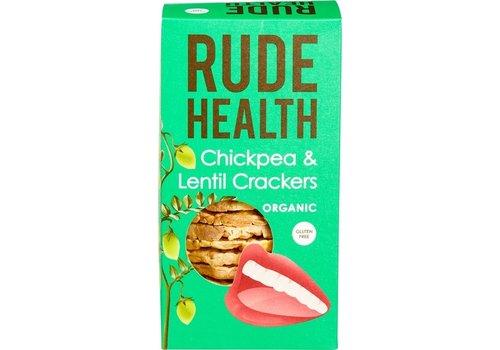 Rude Health Kikkererwten en Linzen Crackers Biologisch