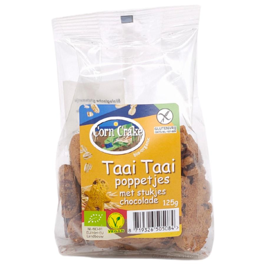 Taai Taai Poppetjes Met Stukjes Chocolade Biologisch
