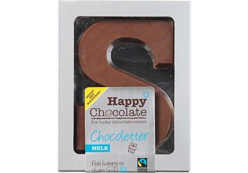 Happy Chocolate Chocoladeletter Melk Biologisch Alternatief Gezoet