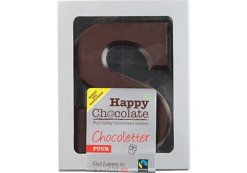 Happy Chocolate Chocoladeletter Puur Biologisch Alternatief Gezoet