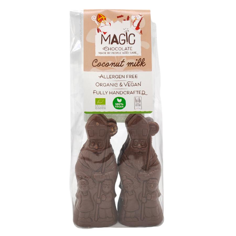 Chocolade Sinterklaasjes Melk 47% Biologisch 4 stuks