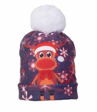 Rudy Land Rudy Land Christmas Beanie Blue Snow