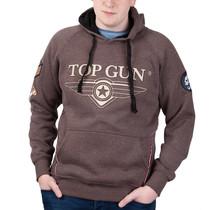 """Sweat à capuche Top Gun ® """"Logo TST"""" avec patchs sur la manche"""
