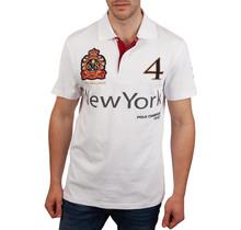 John Brilliant ® Poloshirt New York, wit