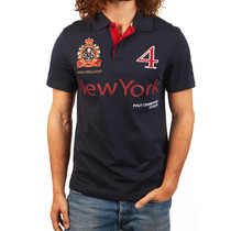 John Brilliant ® Poloshirt New York. donkerblauw