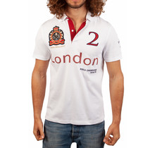 John Brilliant ® Poloshirt London, wit