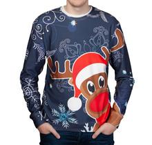 """Rudy Land ® Kersttrui  Sweatshirt """"Navy X-Mas"""""""
