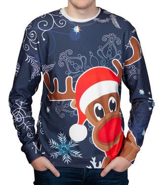 "Rudy Land Rudy Land ® Christmas Sweater ""Navy X-Mas"""