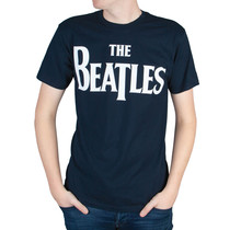 "Rockstarz T-shirt Beatles ""Famous Logo"" donkerblauw"