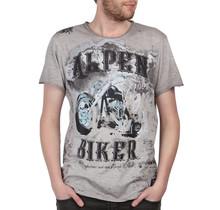 HangOwear ® T-Shirt Alpen Biker, Hellgrau