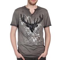 HangOwear ® T-Shirt Hirsch, Grau