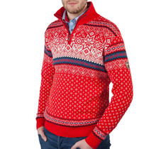 Kama ® Heren pullover Merino Nordic, rood