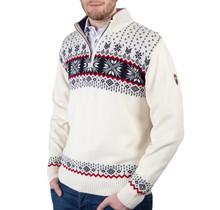 Kama ® heren pullover Merino, gebroken wit