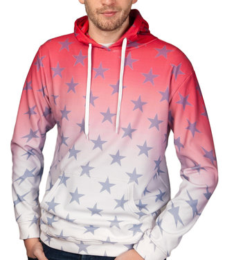 John Brillant John Brilliant ® Stars Hoodie Red