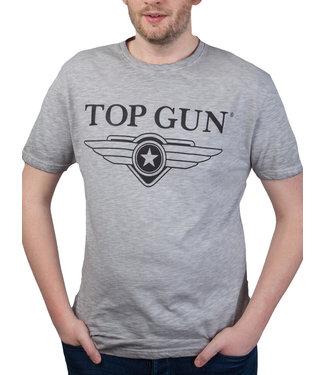 "Top Gun Top Gun ® ""Cloudy"" T-shirt Grey Melange"