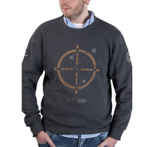 "Top Gun Sweatshirt round neck ""Target Disc"" with patches"