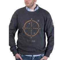 """Top Gun Sweatshirt Rundhals """"Target Disc"""" mit Patches"""