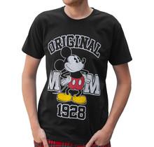 """Rockstarz T-shirt Mickey Mouse """"Original"""" Zwart"""