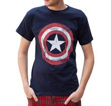 "T-shirt Rockstarz Captain America ""Shield Logo"" Marine"