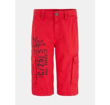 Camp David ® Skater Short met print op de voorkant, Royal Red