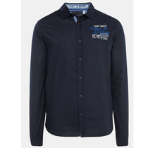 Camp David ® Shirt with stripes tapes on the sleeves, navy