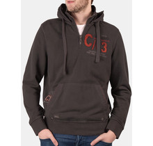 "Camp David holzkohle sweatshirt with hood from the ""Ice Road Truckers"" collection"