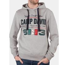 "Sweat à capuche Camp David ® ""Championnat d'Italie"", gris"