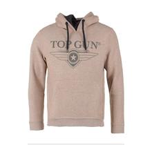 """Sweat à capuche Top Gun """"Logo de Luxe"""" beige"""