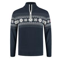 John Brilliant ® Norweger Herren Pullover Merino, Blau