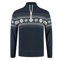 John Brilliant ® Norwegian Mens Pullover Merino, Blue