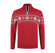 John Brilliant ® Norwegian Mens Pullover Merino, Red