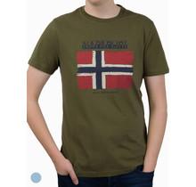 T-shirt Napapijri ® à manches courtes, drapeau