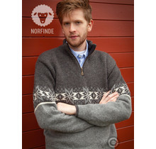 Pullover of 100% pure new Norwegian wool, grey