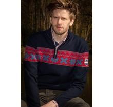 Norwegian Pull pour homme John Brilliant ® Ullgenser, Bleu foncé