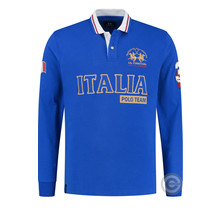 La Martina ® Sweatshirt Italia Poloteam, Cobalt