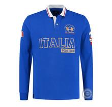 La Martina ® Sweatshirt Italia Poloteam, Kobalt