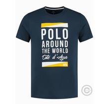 La Martina ® T-Shirt Cote d'Azur, donkerblauw
