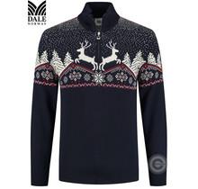 """Pull Dale of Norway ® """"Reindeer"""" bleu foncé"""