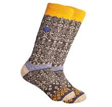Noorse wollen sokken met een kleine geweven Zweedse vlag, donkergrijs