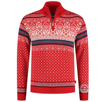 Kama ® Herren Pullover Merino Nordic, Rot