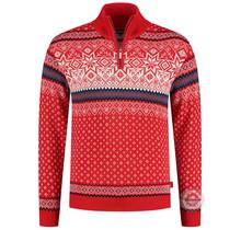 Pull homme Kama ® Merino Nordic, rouge