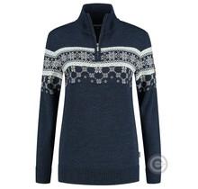Kama ® Womens Pullover Nordic Merino, navy