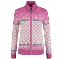 Kama ® Gebreid damesvest Windstopper®, roze