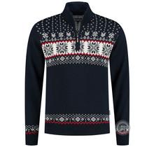 Kama ® heren pullover Merino, donkerblauw