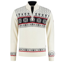Kama ® Mens Pullover Merino, off-White
