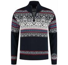 Kama ® Heren pullover Merino Nordic, donkerblauw